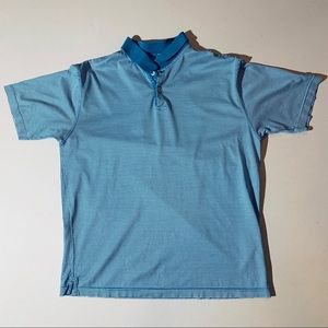 Burberry golf polo - blue and white striped